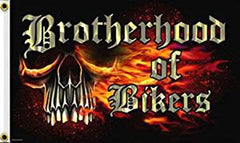 BROTHERHOOD BIKER DELUXE 3' X 5' BIKER FLAG (Sold by the piece)