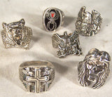 ASSORTED STYLES RANBOM PICKED BIKER RINGS (Sold by the piece) * CLOSEOUT NOW as low as $ 2.50 EA