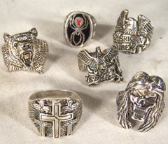 ASSORTED BIKER RINGS (Sold by the piece)