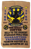 PREMIUM HARVEST COFFEE BURLAP BAG ( sold by the piece )