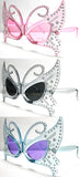 NEW BUTTERFLY WITH JEWELS PARTY GLASSES (Sold by the piece or dozen )