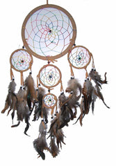 CAMEL RAINBOW DREAMCATCHER 24 INCH  (Sold by the piece)