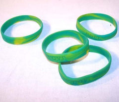CAMOFLAUGE RUBBER BRACELETS (Sold by the dozen) * CLOSEOUT * NOW ONLY .10 CENTS