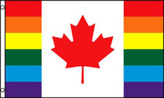 CANADA RAINBOW   3 X 5 FLAG ( sold by the piece )