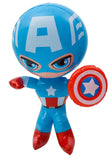 CAPTAIN AMERICA SUPER HERO 24 IN INFLATABLE TOY ( sold by  the piece or dozen )