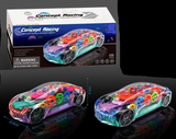 LIGHT UP DANCING MECHANICAL MUSICAL STOP AND GO CAR (sold by the piece)
