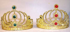 GOLD KIDS JEWEL TIARA CROWNS HATS (Sold by the dozen) *-CLOSEOUT NOW 50 CENTS EA