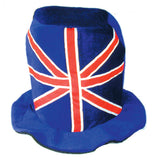 PLUSH BRITISH FLAG CARNIVAL HAT (Sold by the piece) -* CLOSEOUT $1.50 EA