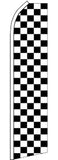SUPER SWOOPER 15 FT BLACK AND WHITE CHECKERED FLAG  (Sold by the piece)