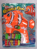 LIGHT UP CLOWN FISH BUBBLE GUN WITH SOUND (sold by the piece )