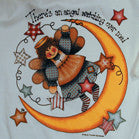ANGEL WATCHING OVER ME WHITE TEE SHIRT  (Sold by the piece) CLOSEOUT $ 1.50 EA