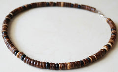 COCONUT SHELL 18 INCH NECKLACES (Sold by the dozen) CLOSEOUT NOW ONLY 50 CENTS EA