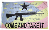 CONSTITUTION 2ND AMENDMENT COME AND TAKE IT GUN 3 X 5 FLAG ( sold by the piece )
