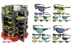 BIG BUCK CAMOFLAUGED SUNGLASSES ( sold by the dozen )