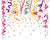 12 INCH TUBE CONFETTI / STREAMER PARTY POPPER CANON ( sold by the dozen ) CLOSEOUT $ 1 EA