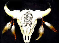 LARGE 12 INCH COW SKULL BUFFALO DESIGN (Sold by the piece) *- CLOSEOUT $9.50 EA