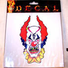 CRAZY CLOWN DECALS (Sold by the dozen) CLOSEOUT NOW ONLY 25 CENTS EA