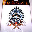 WAR CRY SKULL DECALS WINDOW STICKER (Sold by the dozen) CLOSEOUT NOW ONLY 25 CENTS EA