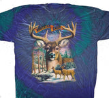 WHITE TAIL DEER TIE DYED TEE-SHIRT (Sold by the piece) *- CLOSEOUT NOW $ 2.95 EA