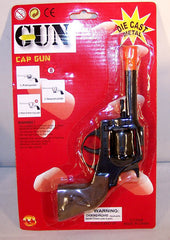 METAL DIE CAST REVOLVER 8 SHOT CAP GUN (Sold by the piece)