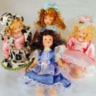 BENDABLE 6 INCH PORCELAIN DOLLS (Sold by the dozen) -* CLOSEOUT $1.00 EA