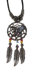 EAGLE DREAM CATCHER ROPE NECKLACE (Sold by the PIECE OR dozen) *- CLOSEOUT $1 EA