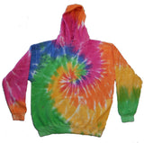 ETERNITY RAINBOW TIE DYED HOODIE (sold by the piece ) *- CLOSEOUT NOW $ 12.50 EA