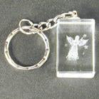 ANGEL IN CRYSTAL KEY CHAIN (Sold by the dozen) * CLOSEOUT * NOW ONLY .50 CENTS EACH