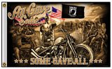 ALL GAVE SOME / SOME GAVE ALL POW MIA VET DELUXE 3 X 5  BIKER FLAG (Sold by the piece)