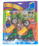 3 IN 1 MICRO FINGER SET - BIKE , ROLLERBLADES, SKATEBOARD (sold by the piece or dozen ) * CLOSEOUT * $1.00