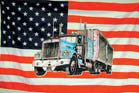 AMERICAN TRUCK 3' X 5' FLAG (Sold by the piece)
