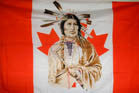 CANADIAN INDIAN FACE  3' X 5' FLAG (Sold by the piece)