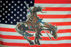 AMERICAN END OF THE TRAIL W HORSE  3' X 5' FLAG (Sold by the piece) * - CLOSEOUT NOW ONLY 2.95 EA