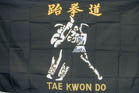 TAE KWON DO 3' X 5' FLAG (Sold by the piece)