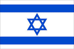ISRAEL COUNTRY 3' X 5' FLAG (Sold by the piece)