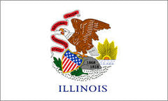 ILLINOIS 3' X 5' FLAG (Sold by the piece)