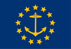 RHODE ISLAND STATE 3' X 5' FLAG (Sold by the piece) CLOSEOUT $ 2.95 EA