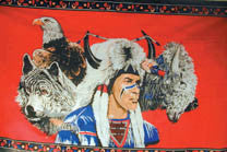 INDIAN WOLF EAGLE BUFFALO 3' X 5' FLAG (Sold by the piece)