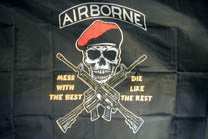 AIRBOURNE MESS WITH THE BEST 3' X 5' FLAG (Sold by the piece)