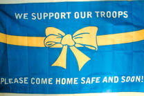 COME HOME SAFE 3' X 5' FLAG (Sold by the piece)