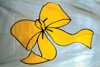 YELLOW RIBBON 3' X 5' FLAG (Sold by the piece)
