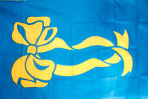 BLUE YELLOW RIBBON 3' X 5' FLAG (Sold by the piece)