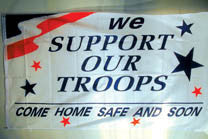 BLUE STAR SUPPORT OUR TROOPS 3' X 5' FLAG (Sold by the piece)