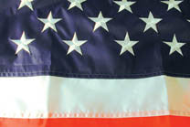 EMBROIDERED AMERICAN 3' X 5' FLAG (Sold by the piece) - CLOSEOUT NOW $ 7.50 EA