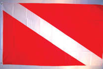 DIVING 3' X 5' FLAG (Sold by the piece)