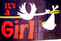 "IT""S A GIRL 3' X 5' FLAG (Sold by the piece)"