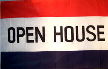 OPEN HOUSE 3' X 5' FLAG (Sold by the piece)