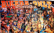 BIKERS ONLY SALOON PARTY DELUXE 3' X 5' BIKER FLAG (Sold by the piece)