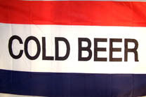 COLD BEER 3' X 5' FLAG (Sold by the piece)