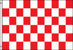 RED WHITE CHECKERED FLAG (Sold by the piece)